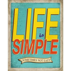 Carnet de note citation Life is simple