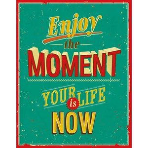 Carnet de note citation Enjoy the moment