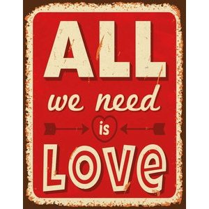 Carnet de note citation All we need is love