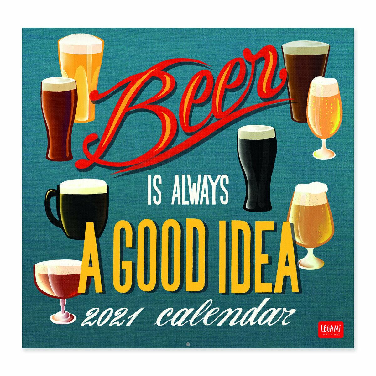 Calendrier 2021 Affiche bière retro