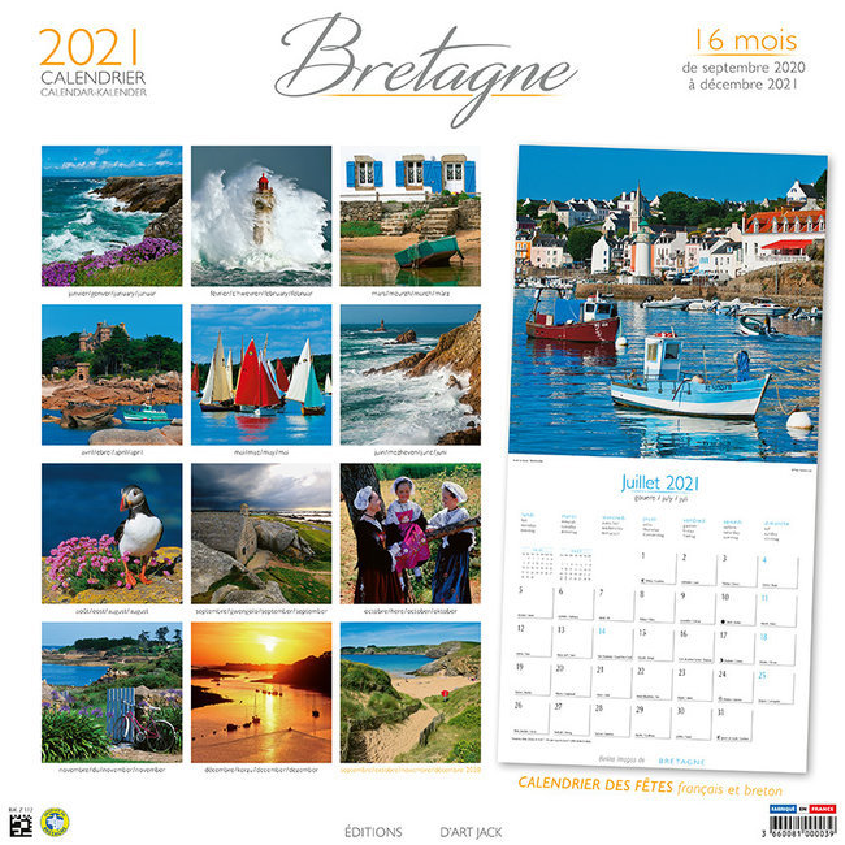 calendrier Bretagne 2021