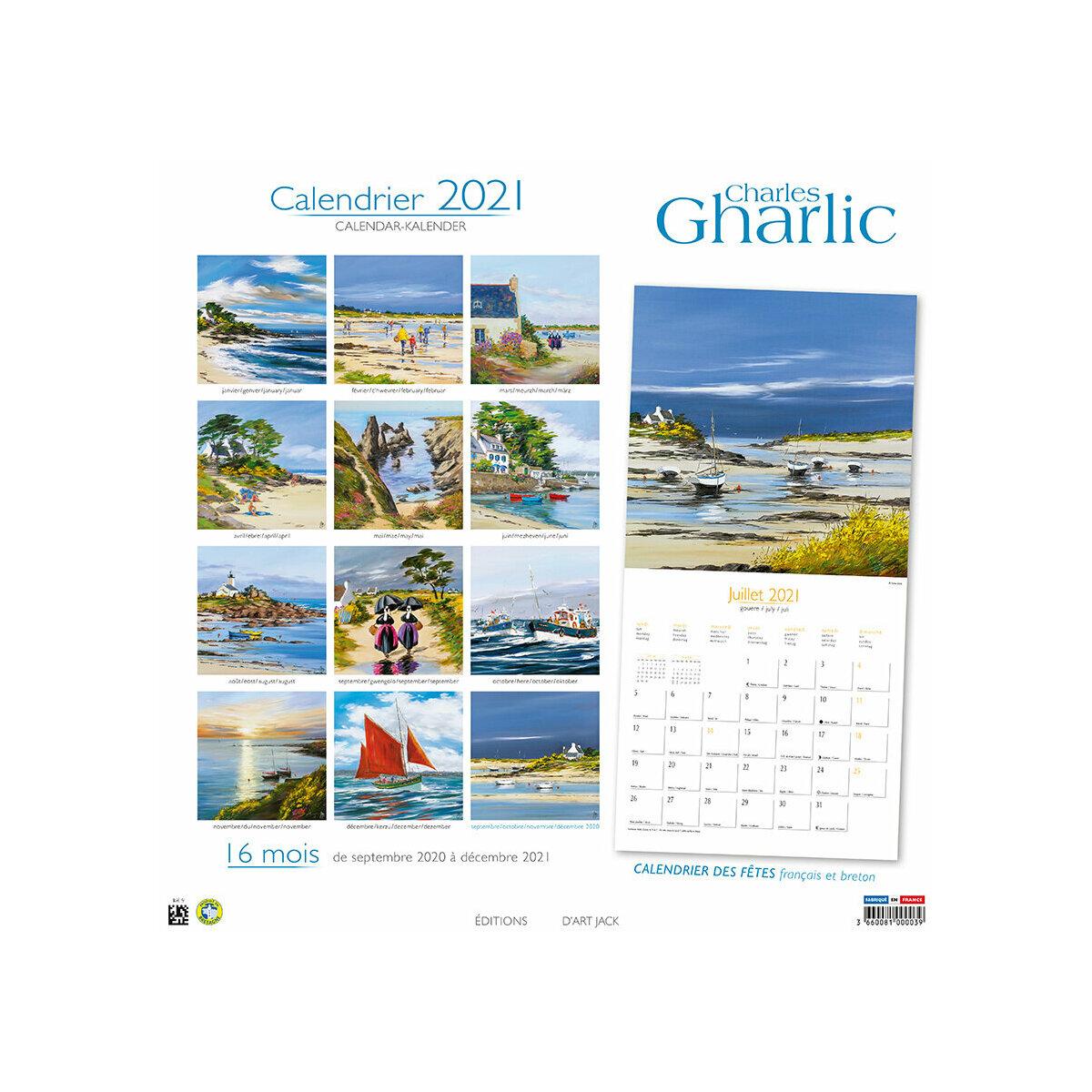 Calendrier Breton 2021 calendrier Bretagne par Charles Gharlic 2021