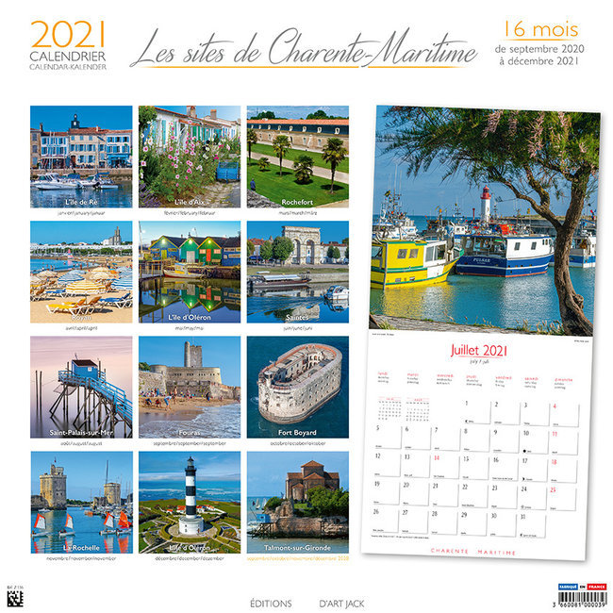 Beau Calendrier 2021 Calendrier 2021 Les plus beaux endroits de Charente