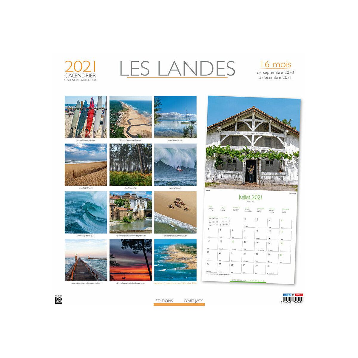 Calendrier 2021 Les landes   plage