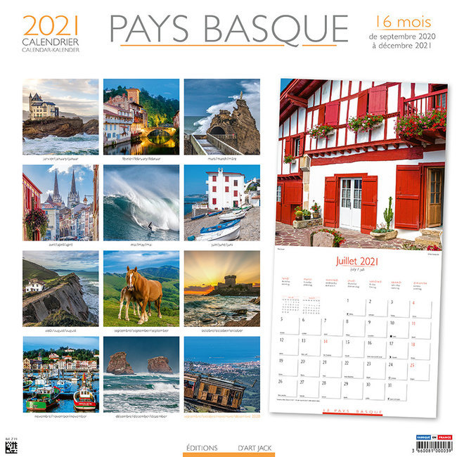 Calendrier Des Payes 2021 calendrier Pays basque 2021