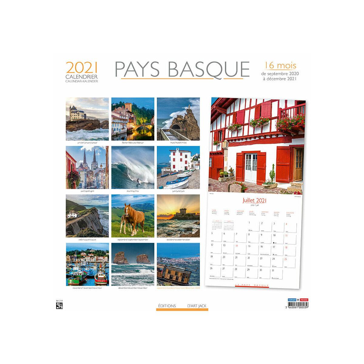 calendrier Pays basque 2021