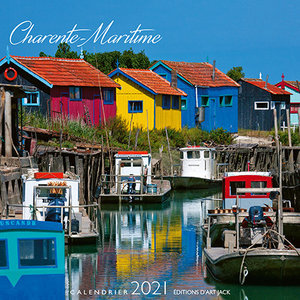 Calendrier chevalet 2021 Charente maritime - port