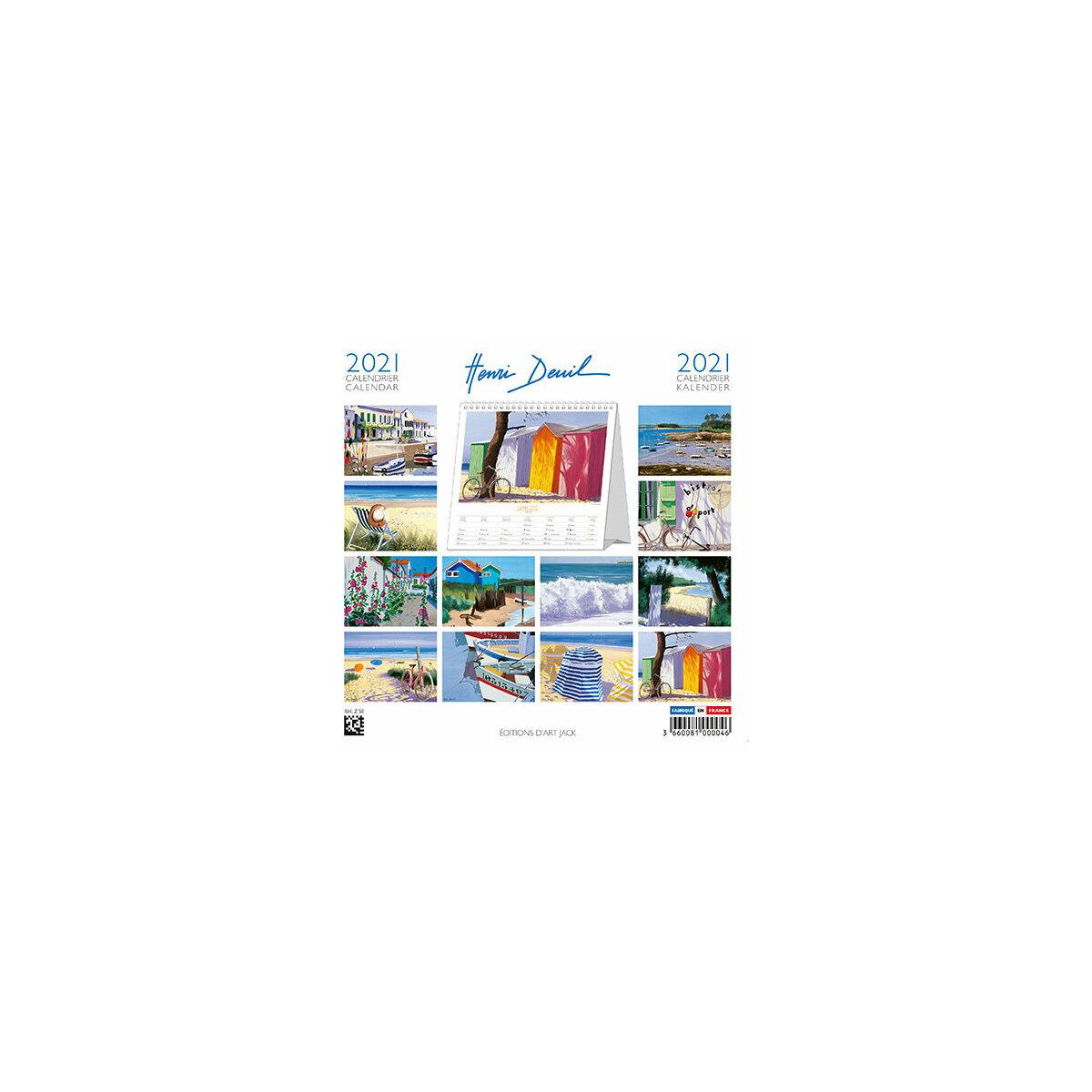 Calendrier Chevalet 2021 Calendrier chevalet 2021 Henri Deuil