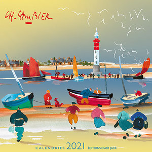 Calendrier chevalet 2021 Aquarelle mer - Cambier