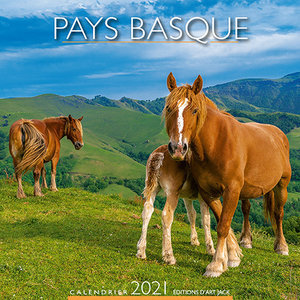 Calendrier chevalet 2021 Pays basque chevaux