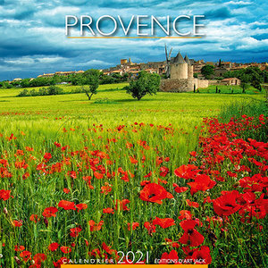 Calendrier chevalet 2021 Provence coquelicot