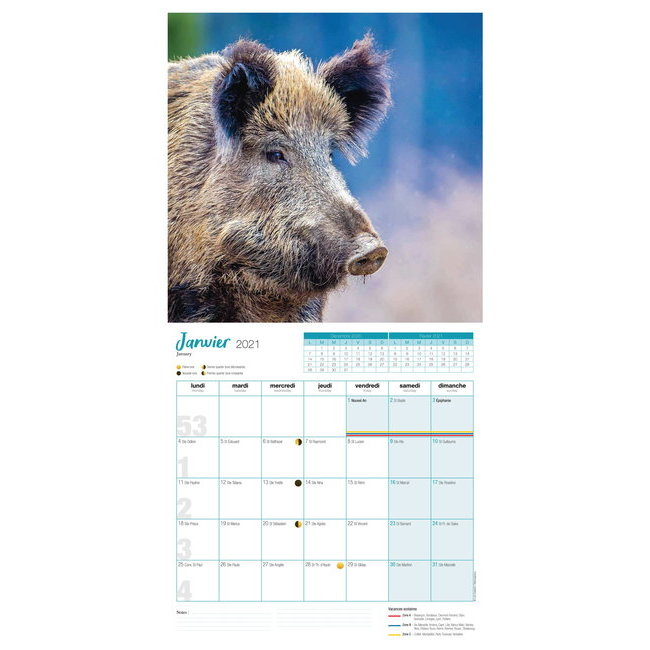 Calendrier 2021 Chasse
