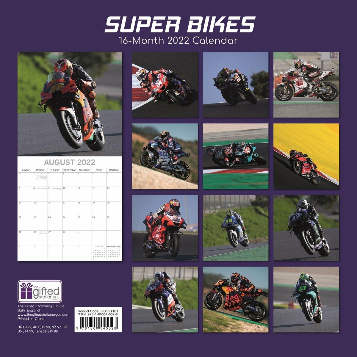 Calendrier Course 2022 Calendrier 2022 Moto de course