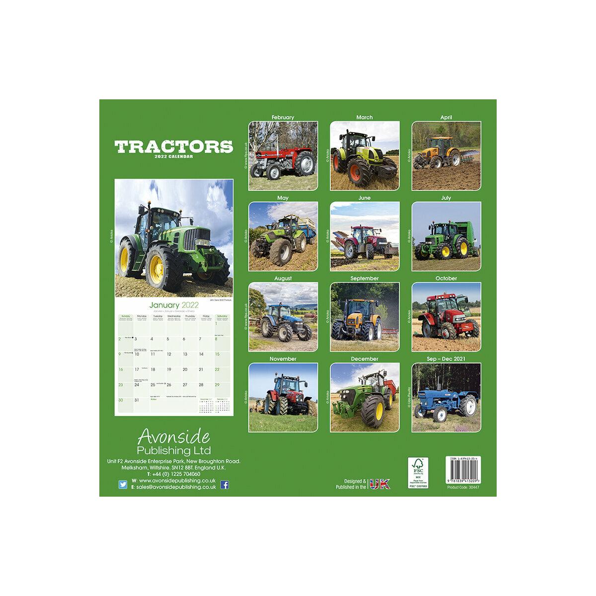 Calendrier Des Agriculteurs 2022 Calendrier 2022 Tracteur