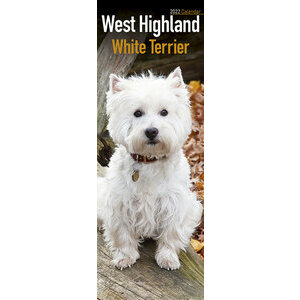 Calendrier 2022 West highland white terrier slim