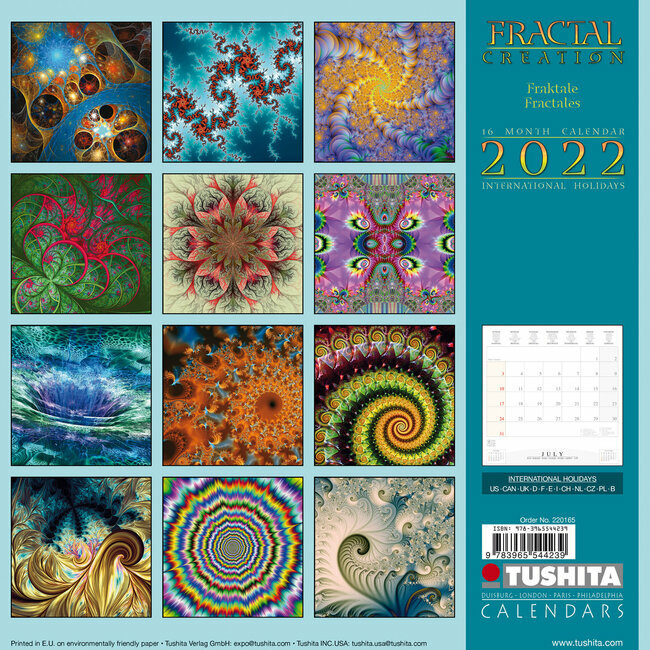 Creation Calendrier 2022 Calendrier 2022 Fractale creation