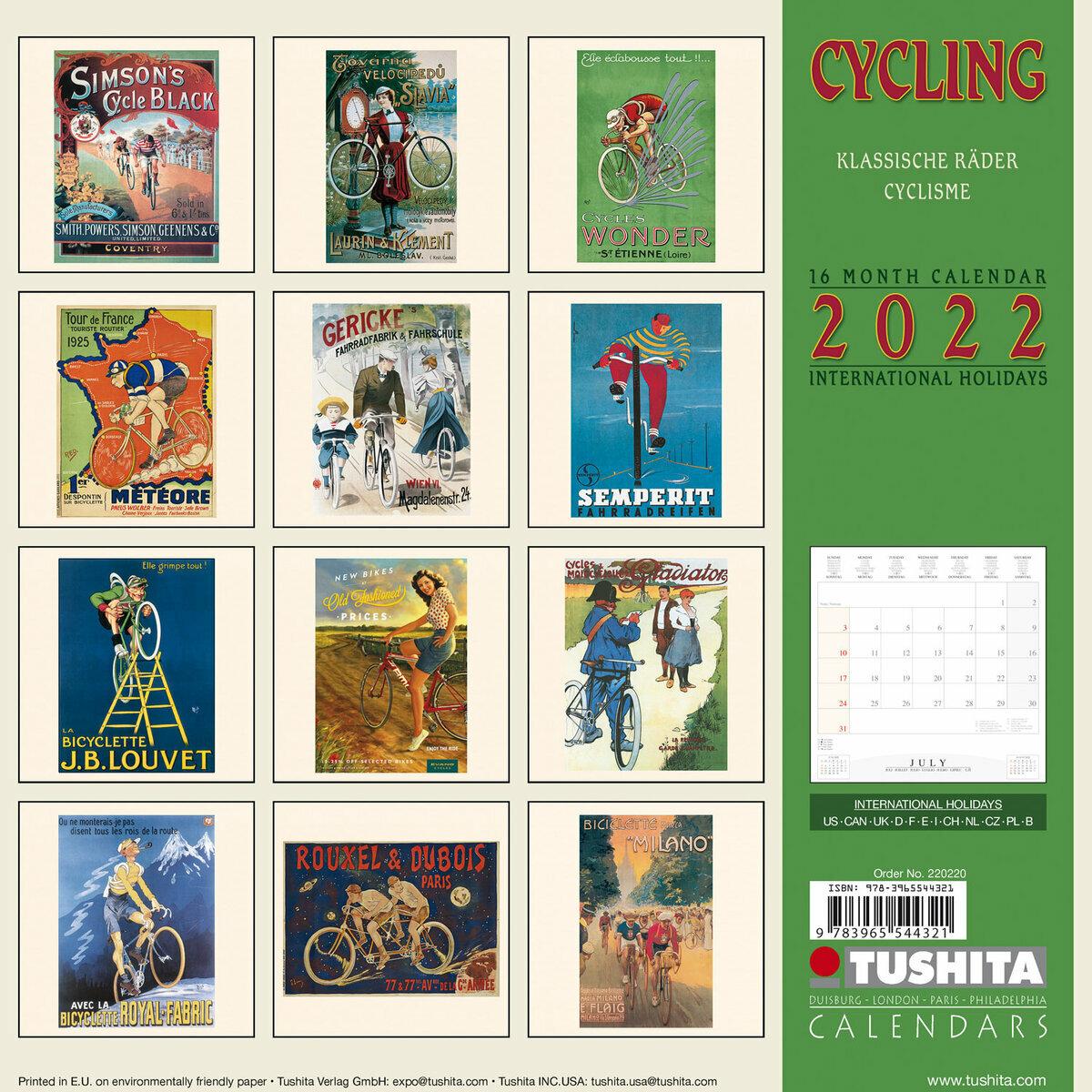 Cyclisme Calendrier 2022 Calendrier 2022 Affiche retro cyclisme