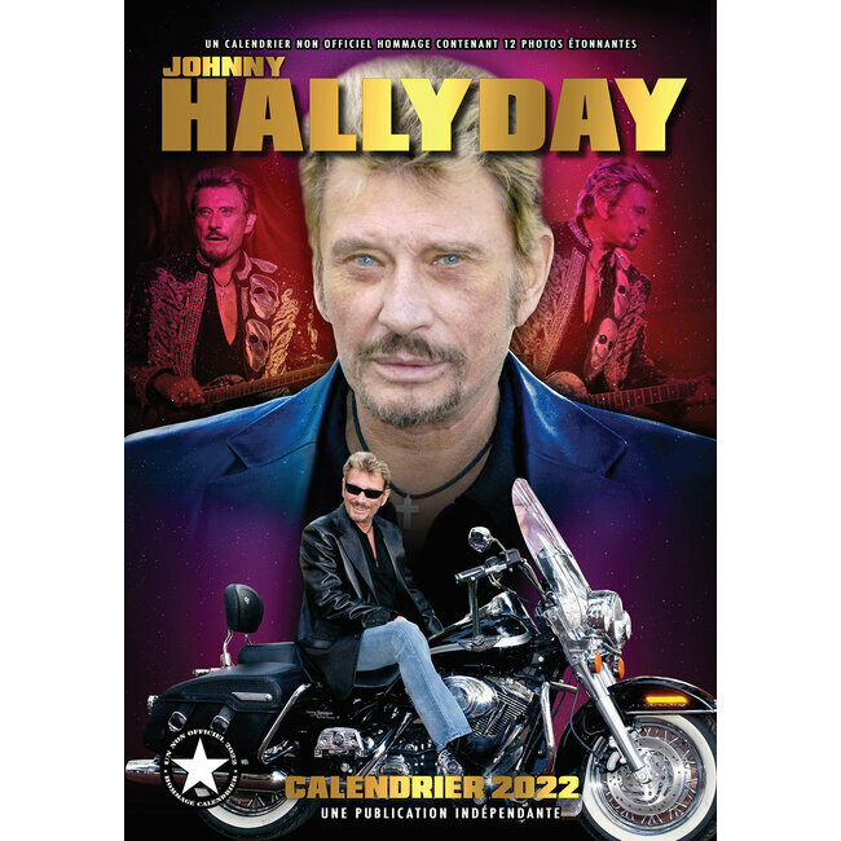 Calendrier Johnny Hallyday 2022 La Poste Calendrier 2022 Johnny Hallyday format A3