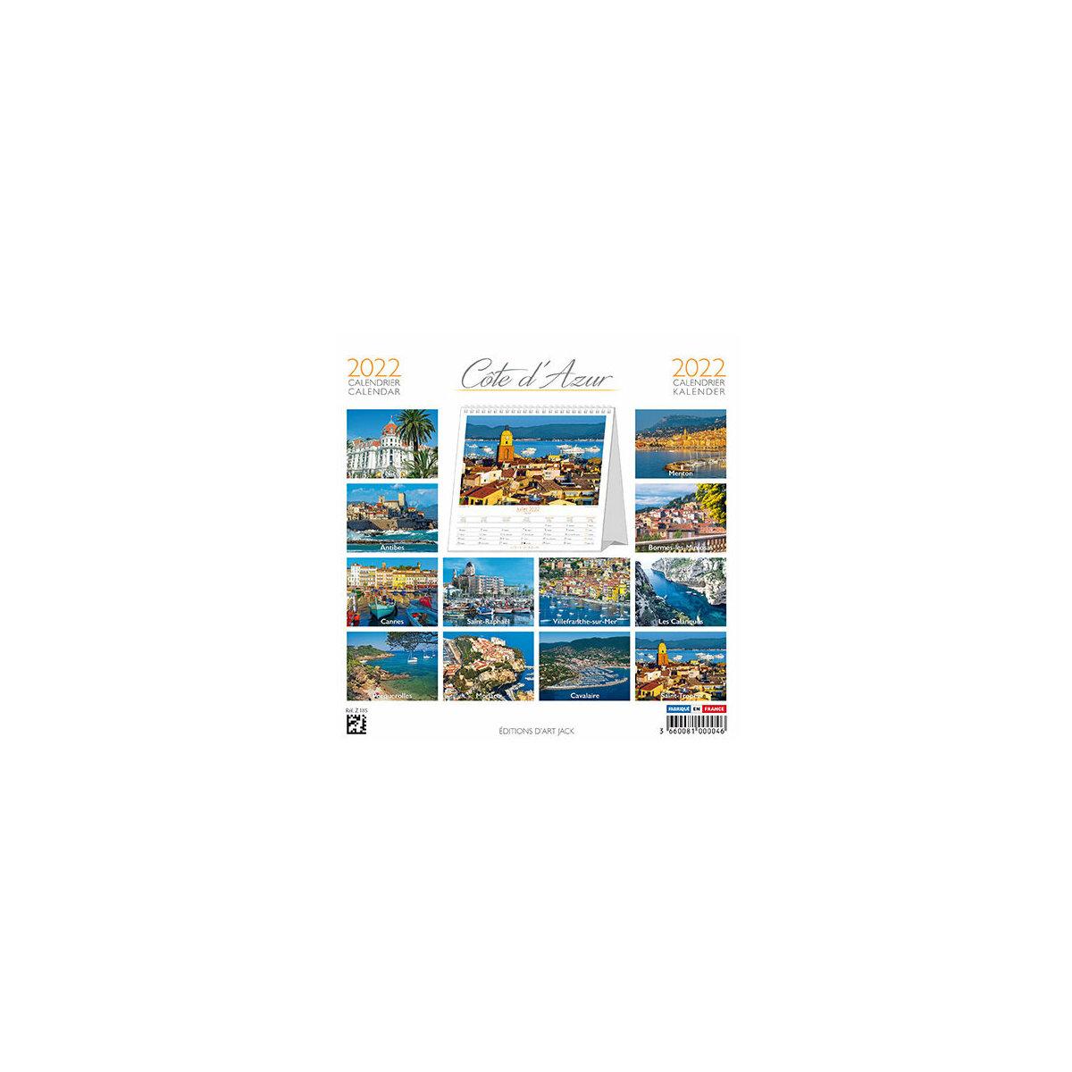 Calendrier Chevalet 2022 Calendrier chevalet 2022 Côte d'Azur