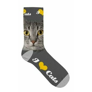 Chaussettes Chat gris yeux