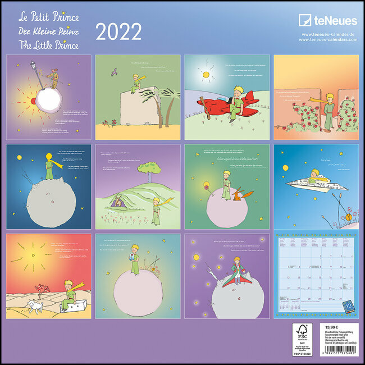 Petit Calendrier 2022 calendrier Le petit prince 2022